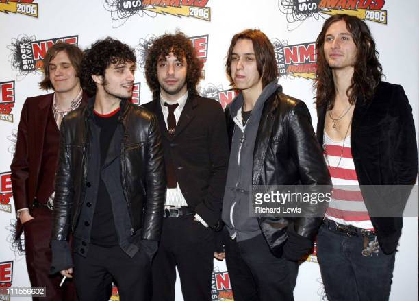 The Strokes at the Shockwaves NME Awards 2006 during Shockwaves NME Awards 2006 Inside Arrivals at Hammersmith Palais in London Great Britain