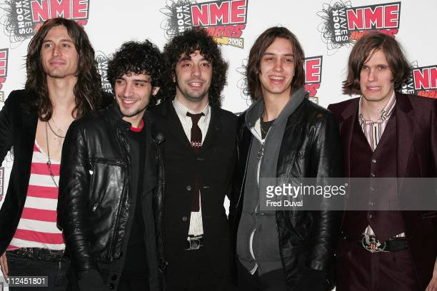 The Strokes at the Shockwaves NME Awards 2006 during Shockwaves NME Awards 2006 Outside Arrivals at Hammersmith Palais in London Great Britain