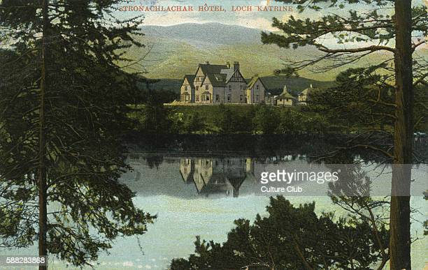 The Stronachlachar Hotel on Loch Katrine in Stirling Scotland It famous for being the location of Walter Scotts poem The Lady of the Lake and as a...