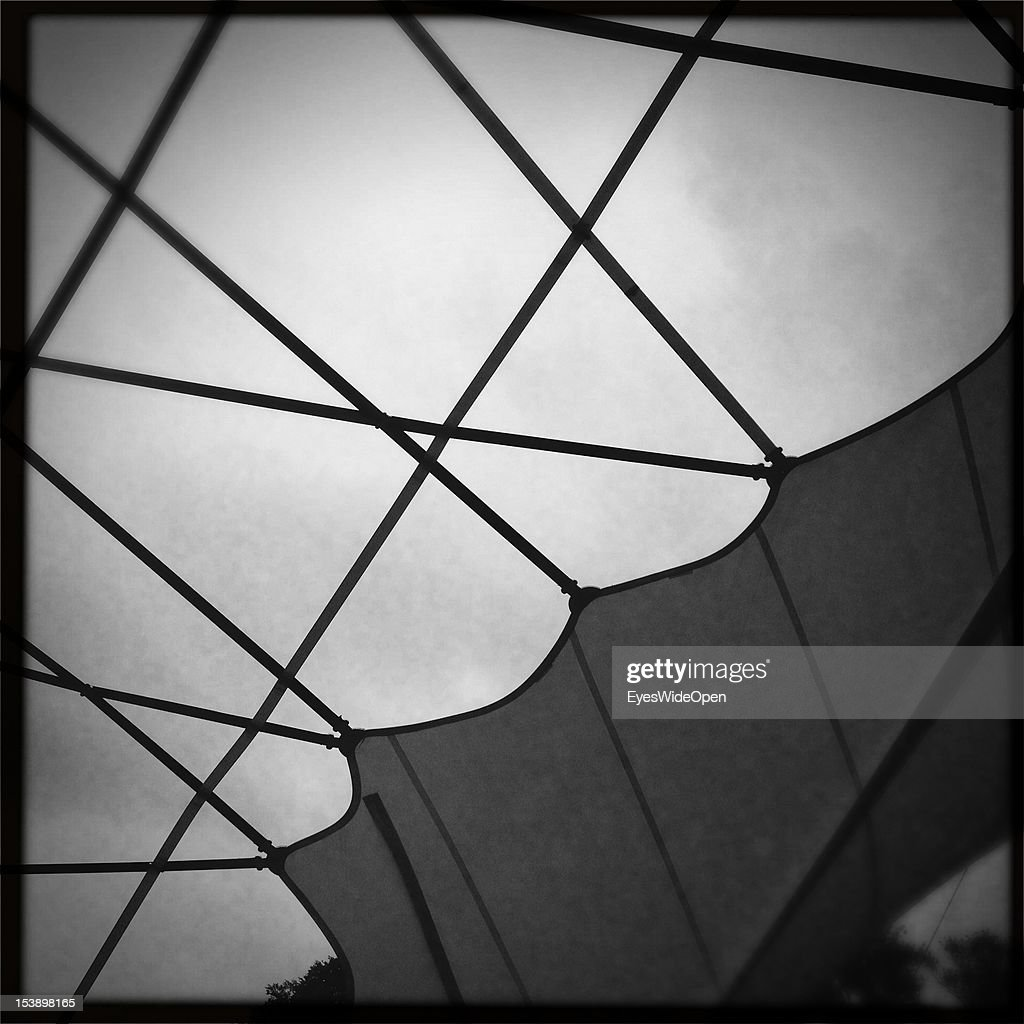 The structure of the roof top of a restaurant in the Alten Spinnerei on September 13, 2012 in Kolbermoor, Bavaria, Germany.