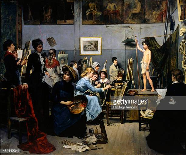 'The Studio by Académie Julian' 1881 Found in the collection of the State Art Museum Dnepropetrovsk Ukraine