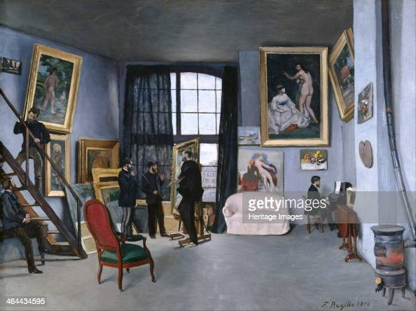 The studio of the artist at Rue de La Condamine 1870 Found in the collection of the Musée d'Orsay Paris
