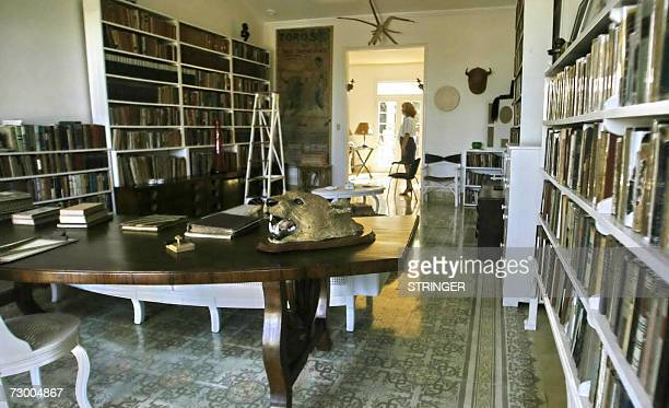 The study of the Finca Vigia colonial residence 21 km from Havana where US writer Ernest Hemingway lived for 21 years as seen 15 January 2007 Finca...