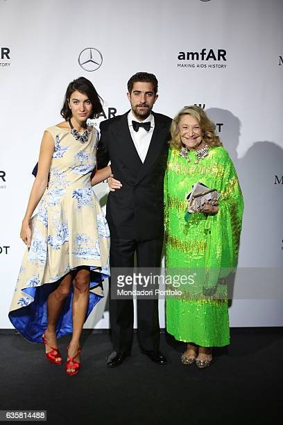 The style icon queen of high society and Italian painter Renato Guttuso's muse Marta Marzotto beside Italian photographer and fashion designer Marta...