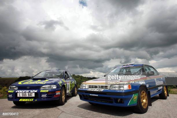 The Subaru Impreza cars driven by former World Rally Champion Colin McRae which are due to be loaned to the new Riverside Museum in Glasgow at McRae...