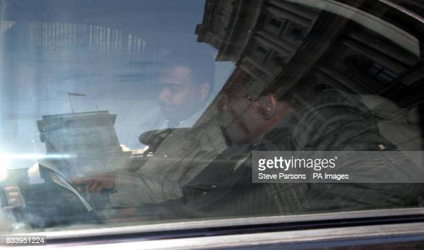 The Sudanese ambassador Omer Mohammed Ahmed Siddig leaves the Foreign Office London where he met with Foreign Secretary David Miliband regarding...