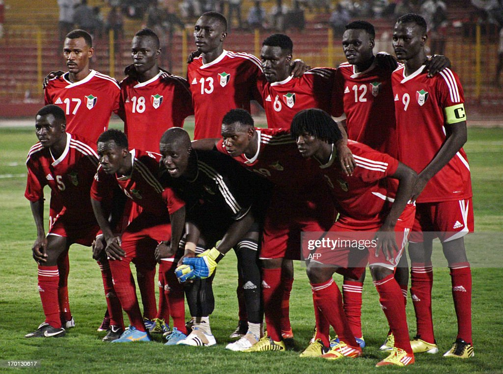 The Sudanese football team pose for a team photo prior to their 2014 World Cup qualifying football match against Ghana in Khartoum on June 7 2013 AFP...