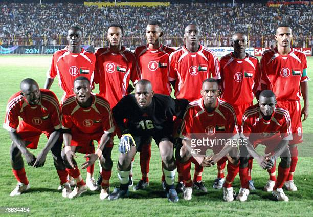 The Sudanese national football team pose for a team picture before the start of their final group four African Nation's cup match against Tunisia in...