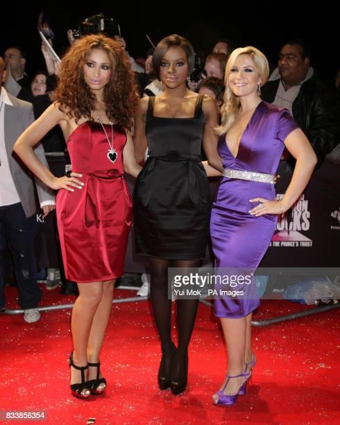 The Sugababes Amelle Berrabah Keisha Buchanan and Heidi Range arrives for Swarovski Fashion Rocks for The Prince's Trust at the Royal Albert Hall in...