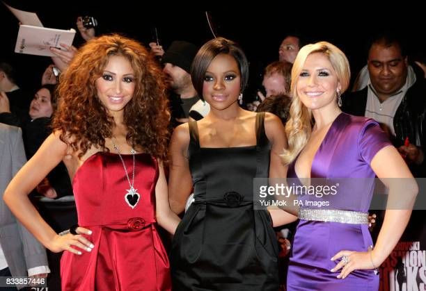 The Sugababes arrive for Swarovski Fashion Rocks for The Prince's Trust at the Royal Albert Hall in central London