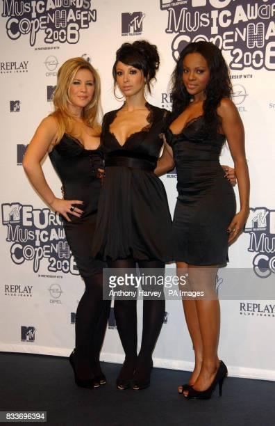 AP OUT The Sugababes arrive for the MTV Europe Music Awards in Copenhagen Denmark