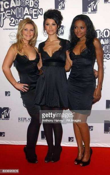 The Sugababes arrive for the MTV Europen Music Awards in Copenhagen Denmark