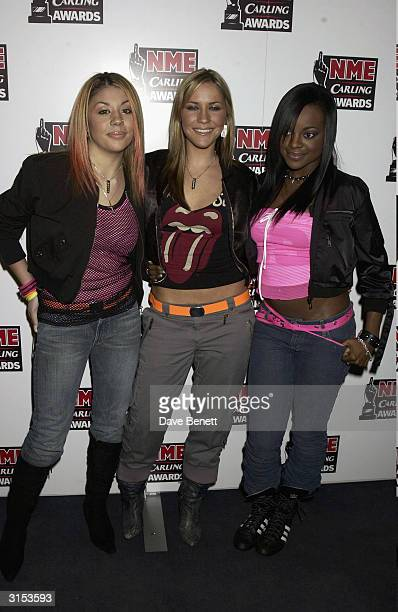 The Sugababes attend the 2003 NME Carling Awards at Po Na Na Club in Hammersmith on February 14 2003 in London