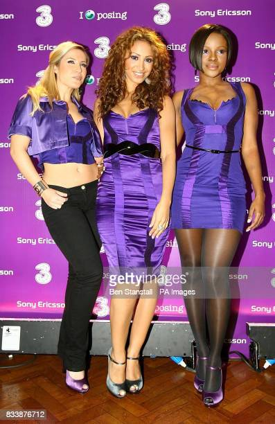 The Sugababes attend the launch party for the new Purple Phone for 3 Central London