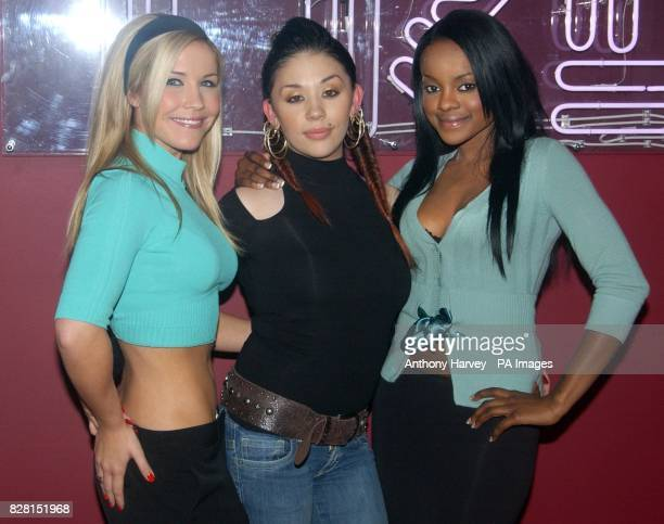 The Sugababes during her guest appearance on MTV's TRL Total Request Live show