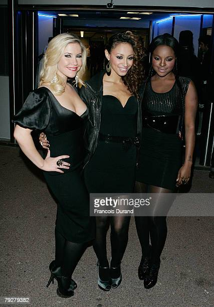 The Sugababes leave after attending the NRJ Music Awards 2008 on January 26 2008 in Cannes France