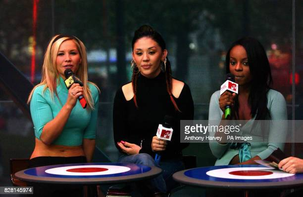 The Sugababes make a guest appearance on MTV's TRL show live from Leicester Square central London Monday 26 September 2005 PRESS ASSOCIATION Photo...