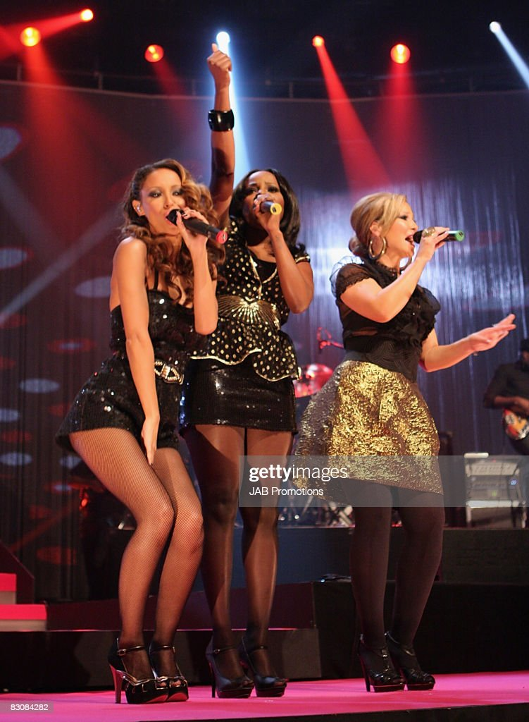 The Sugababes on stage during the BT Digital Music Awards 2008 held at The Roundhouse on October 1 2008 in London England