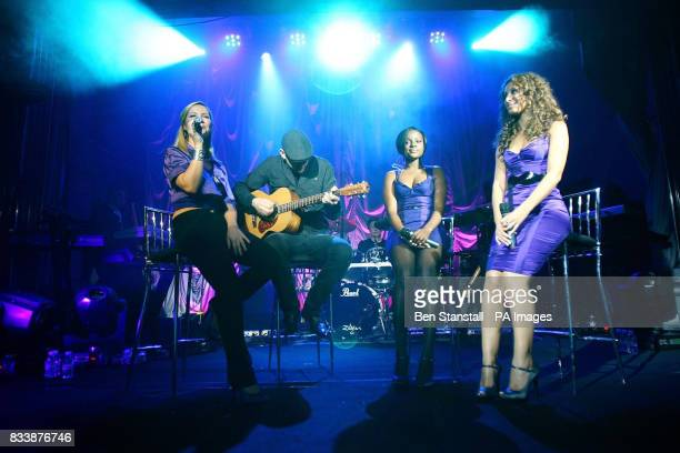 The Sugababes perform at the launch party for the new Purple Phone for 3 Central London