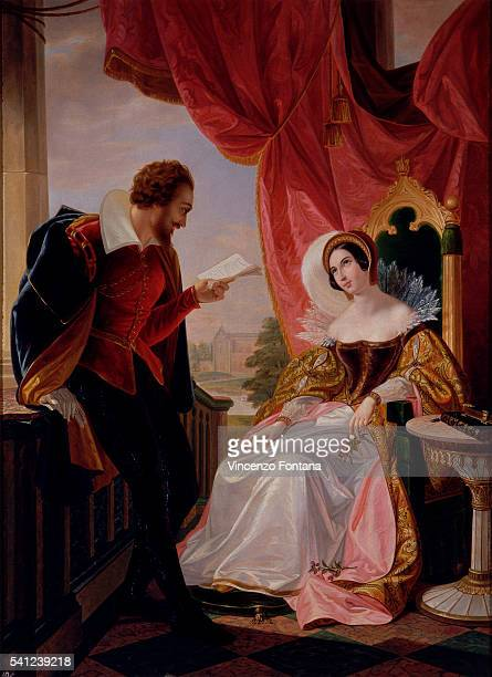 The Suitor Reads a Poem to Eleonora d'Este by Luigi Mussini