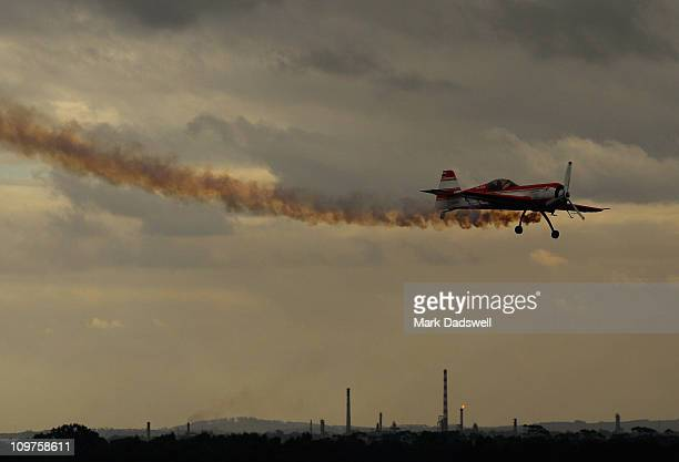 The Sukhoi makes a low pass during the Avalon Air Show on March 4 2011 in Melbourne Australia