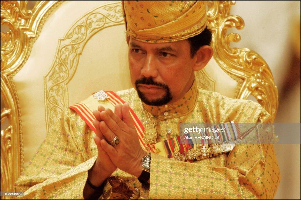 The Sultan of Brunei in Bandar Seri Bagawan, Brunei Darussalam on September 08, 2004.