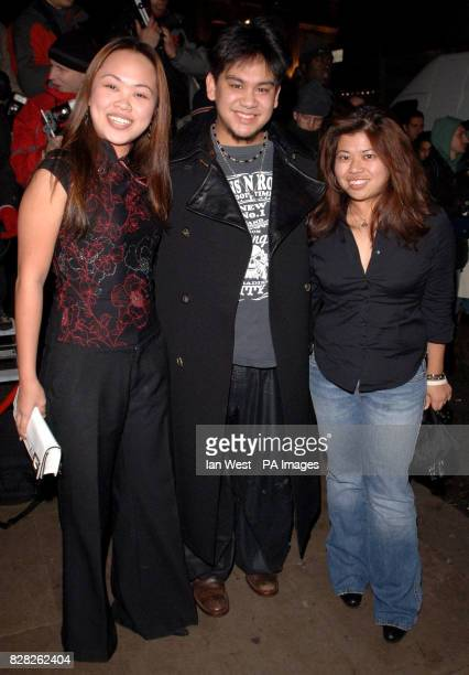 The Sultan of Brunei's son and daughters arrive at the Grand Classics VIP screening of 'Annie Hall' at the Electric Cinema in Notting Hill west...