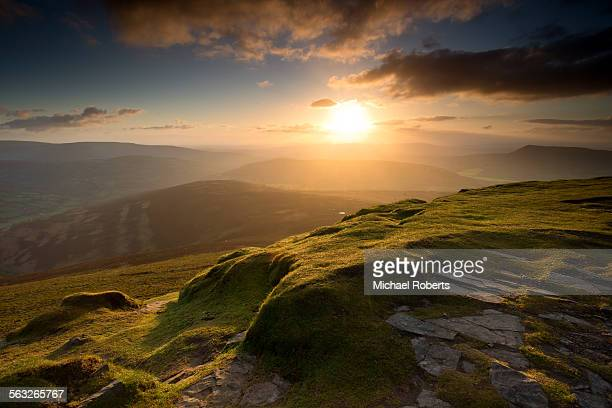 The summit of Sugar Loaf mountain, Wales