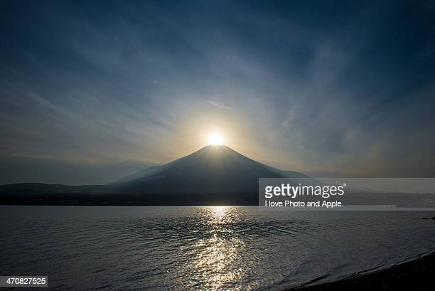 The sun arrives at the Fuji summit
