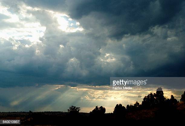 The sun breaks through storm clouds on the Hume Highway near Gundagai in the Southern Highlands of New South Wales 28 January 2006 SHD Picture by...