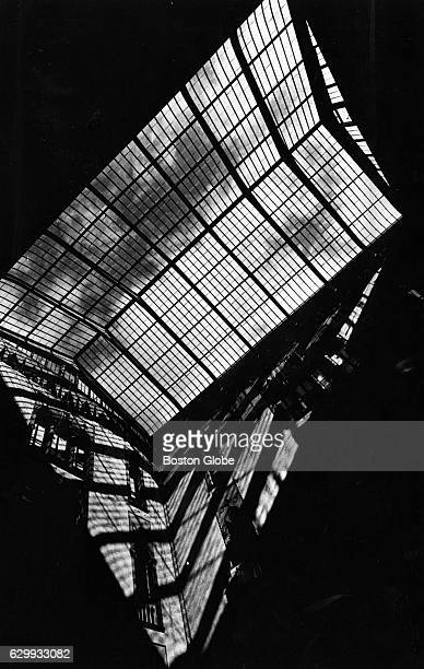 The sun casts a shadow on the wall through the glass enclosure in the center courtyard at the Isabella Stewart Gardner Museum in Boston on Sept 27...