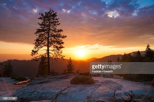 CONTENT] The sun goes down over Beetle Rock in California's Sequoia National Park on an August evening