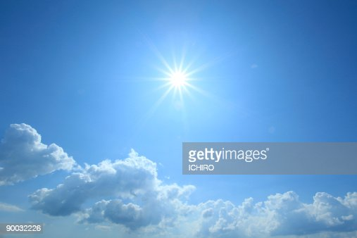 The sun in the sky. : Stock Photo