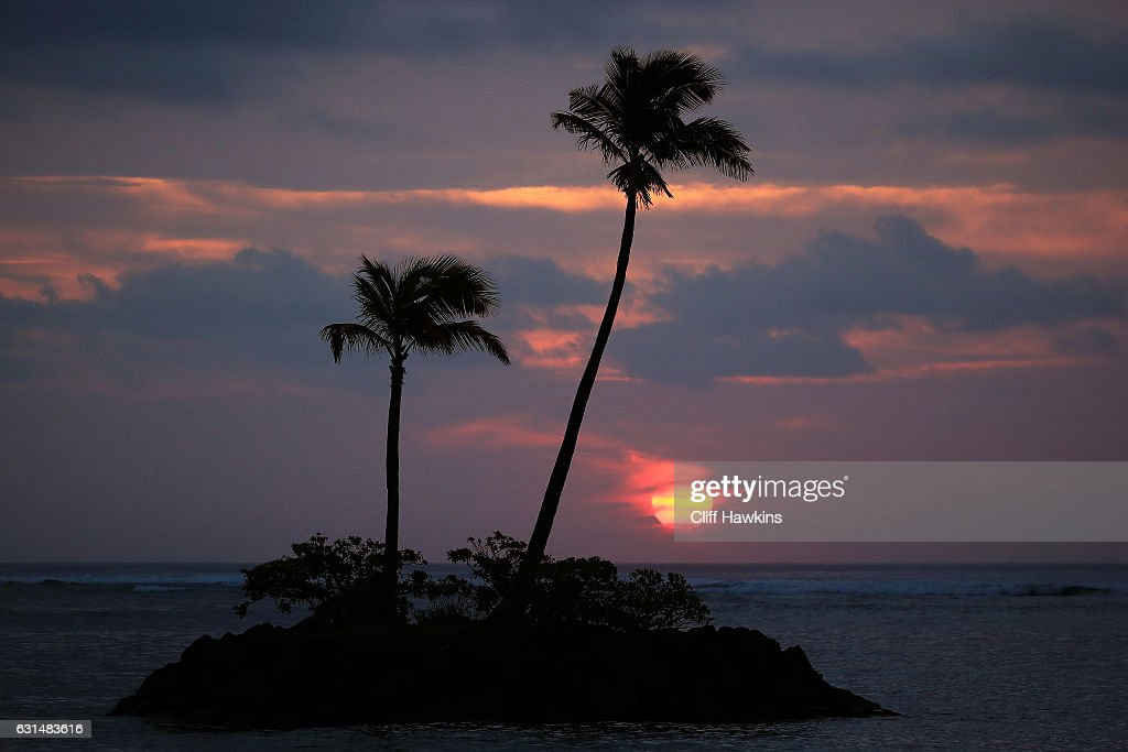 The sun rises during the Pro-Am Tounament prior to the Sony Open In Hawaii at Waialae Country Club on January 11, 2017 in Honolulu, Hawaii.