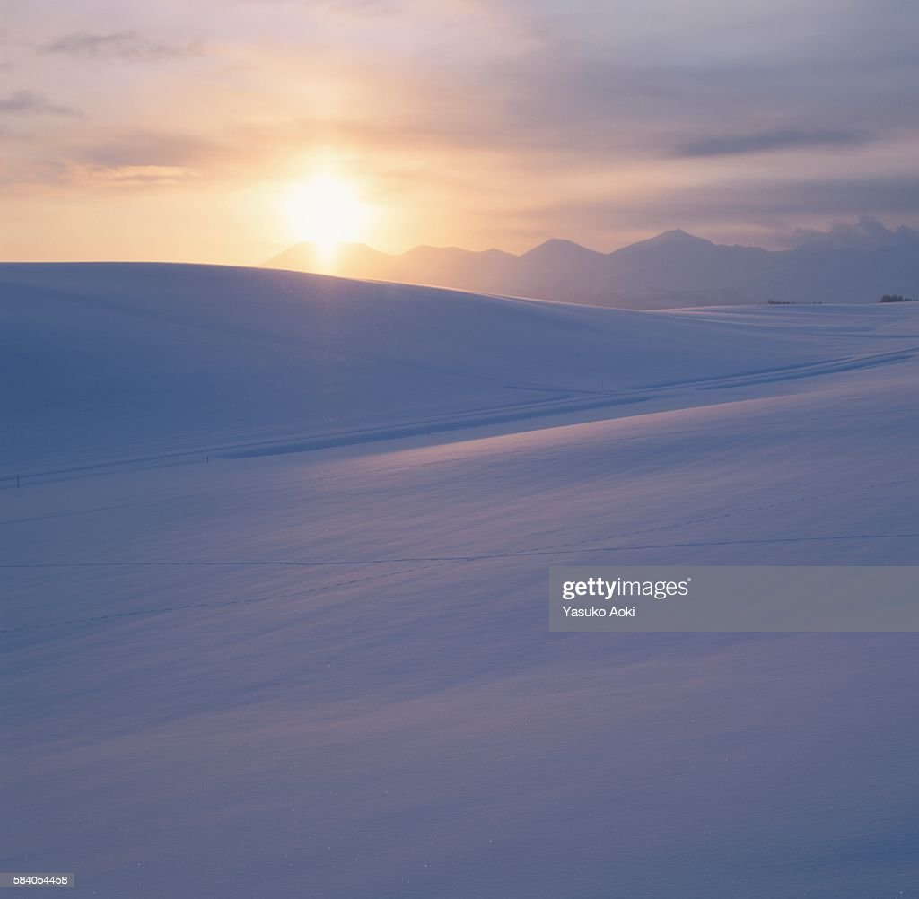 Free art print of Sun rising over snowy mountains of Smokies in ...