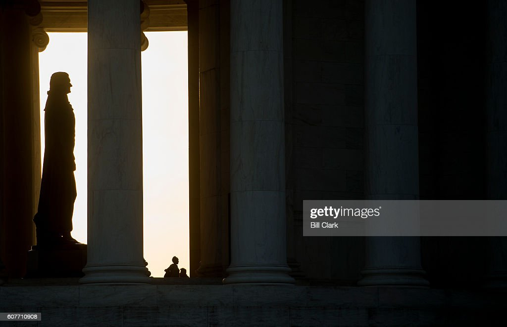 Image result for The Sun sets on jefferson memorial