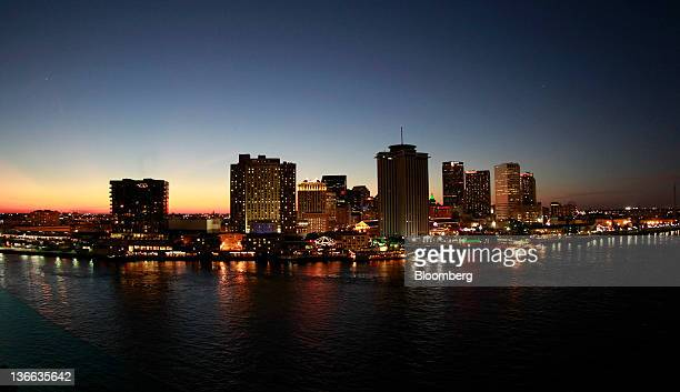 The sun sets on downtown New Orleans Louisiana US on Saturday Dec 17 2011 After more than three weeks of virtually inconsequential bowl games college...