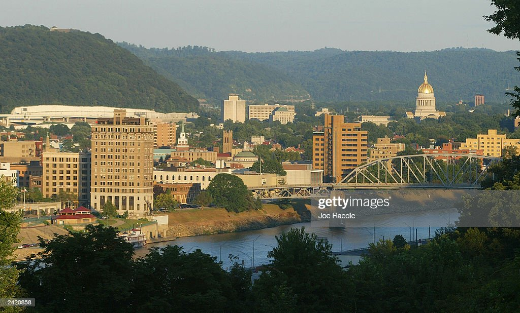 The sun sets on the skyline August 23 2003 of Charleston West Virginia An emergency task force of local state and federal law enforcement agencies...