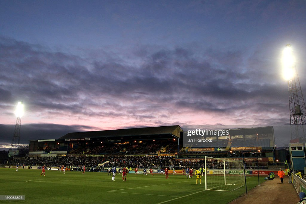 The sun sets over Brunton Park during the Sky Bet League one match between Carlisle United and Crawley Town at Brunton Park on November 16, 2013 in Carlisle, England