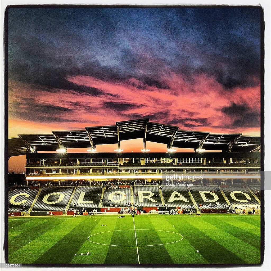 The sun sets over the stadium as Australia prepares to face the USA in a women's International Friendly at Dick's Sporting Goods Park on September 19, 2012 in Commerce City, Colorado. USA defeated Australia 6-2 as head coach Pia Sundhage lead the USA in her final match with the team.
