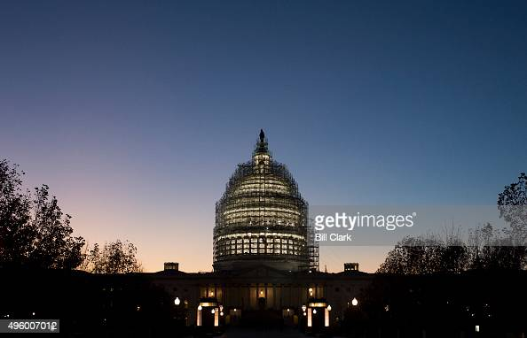 The sun sets over the US Capitol in Washington on Thursday Nov 5 2015