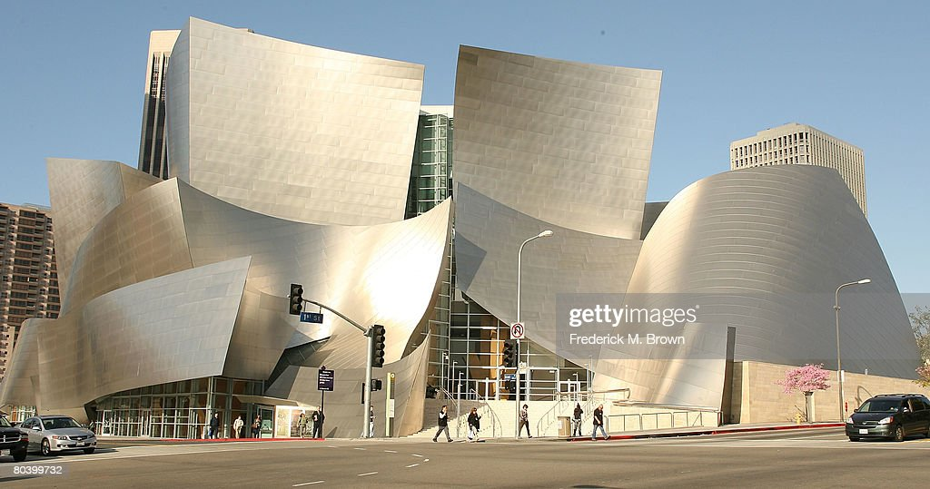 The sun shines on the Frank O Gehry designed Disney Concert Hall March 27 2008 in Los Angeles California