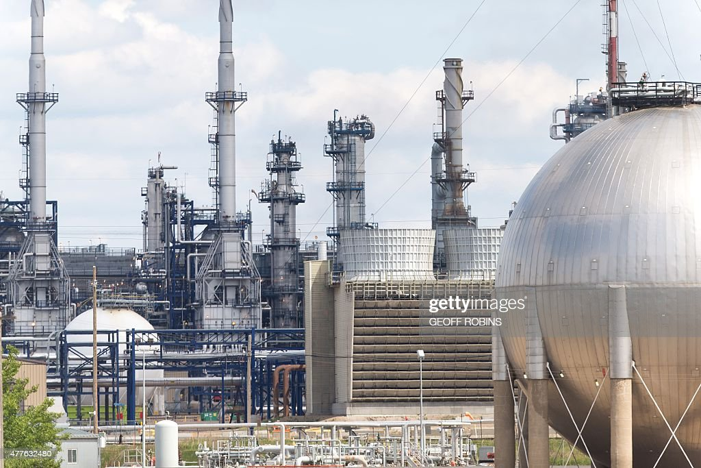The Suncor refinery in Edmonton Canada seen here on June 17 has a capacity of refining 142000 barrels of light oil a day according to the company It...