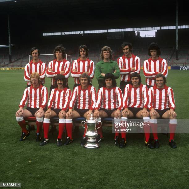 The Sunderland team for the 197374 season pictured with the FA Cup which they had won at the end of the 197273 season David Young Vic Halom Dave...