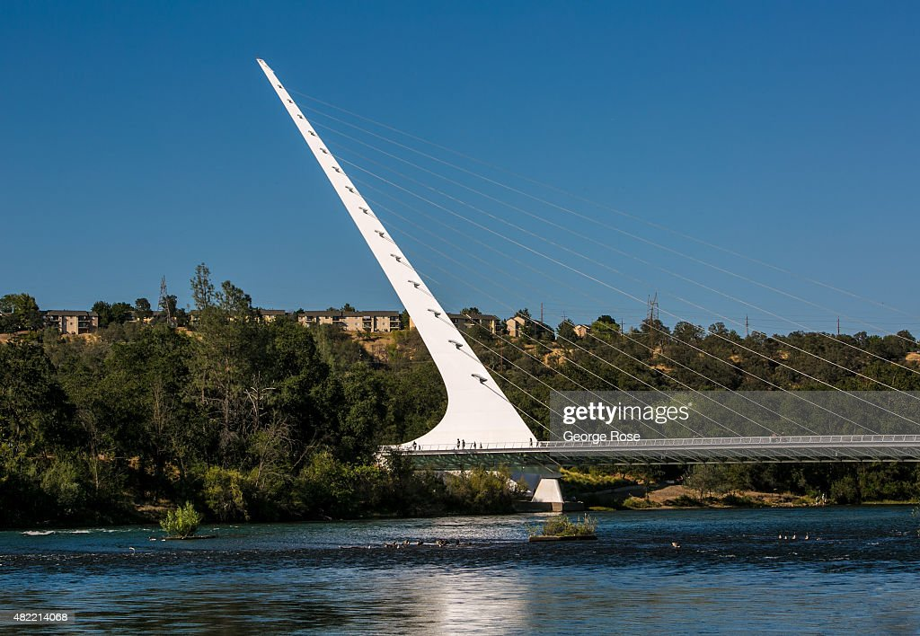 The Sundial Bridge designed by Santiago Calatrava is located on the Sacramento River as viewed on July 19 in Redding California After entering the...