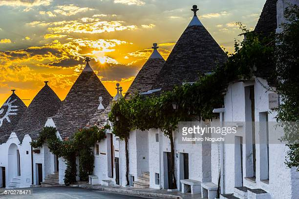 The sunrise at Alberobello