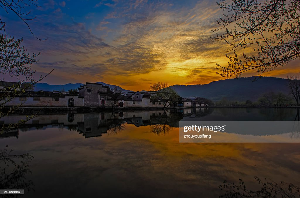 The sunrise of Hongcun Village