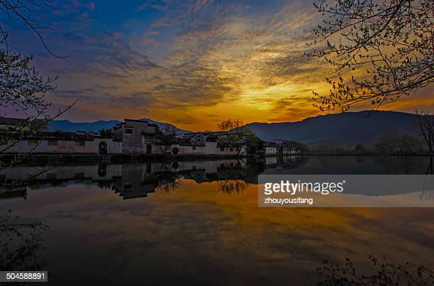 The sunrise of Hongcun Village
