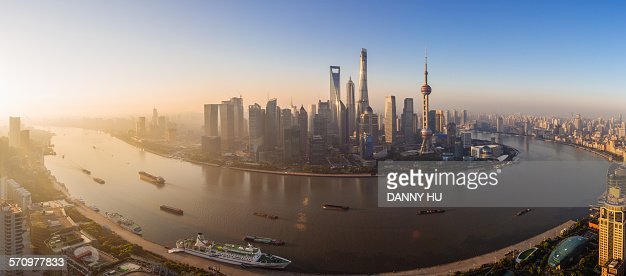 The sunrise of Lujiazui
