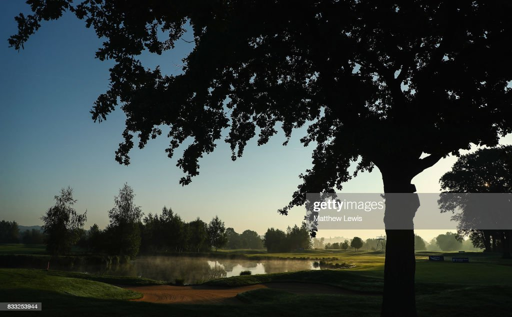 The sunrises over the 18th green ahead of day one of the Saltire Energy Paul Lawrie Matchplay at Golf Resort Bad Griesbach on August 17, 2017 in Passau, Germany.